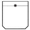 Square pocket without pleat